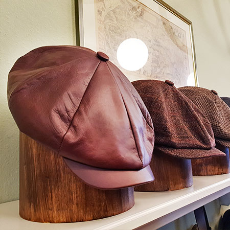 Shopping Basel, Best Shops Basel, leather, cap, peaked cap, handmade, John Tweed