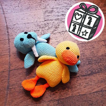 Geschenke Ideen, Geschenke Tipps, Basel, Geschenke Basel, Geschenke für Kinder, Kuscheltier, handgemacht, gehäckelt, häckeln, Baby, Kinder, Spielzeug, Ente, Walross