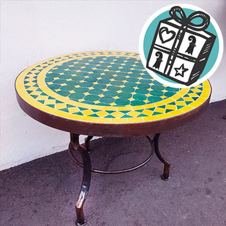 Gifts Ideas, gift tips, Basel, Gifts Basel, Souvenirs, Gifts, present, presents, shopping, Table, Mosaic table, Mosaic, handmade, Morocco