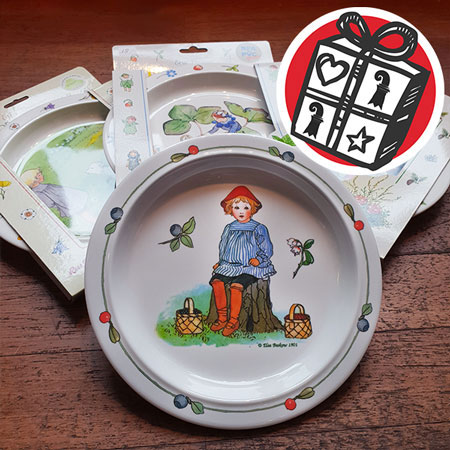 Gifts Ideas, gift tips, Basel, Gifts Basel, Souvenirs, Gifts, present, presents, shopping, Gifts for children, Plate, Children's plate, non-slip, Elsa Beskow, Melamine, Children, painted, Drawing, dishes
