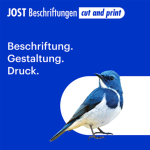 Jost Beschriftungen - Liestal, Dienstleister, Fahrzeugbeschriftung, Gebäudebeschriftung, Liestal, Jost Beschriftungen, Logo, Signaletik