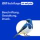 Jost Beschriftungen - Liestal, service provider, vehicle lettering, building lettering, Liestal, Jost Beschriftungen, logo, signage