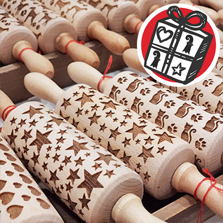 Gifts Ideas, Basel, gift tips, Gifts Basel, Souvenirs, Gifts, present, presents, Wunder-Laden, rolling pin, baking, Christmas