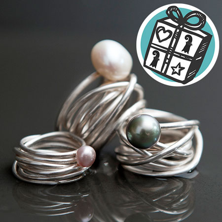 Gifts Ideas, gift tips, Basel, Gifts Basel, silver, ring, pearl, jewellery, WoMenArt