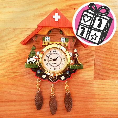 Geschenke Ideen, Geschenke Tipps, Basel, Geschenke Basel, Kuckucksuhr, Uhr, Quartz, Magnet, Johann Wanner