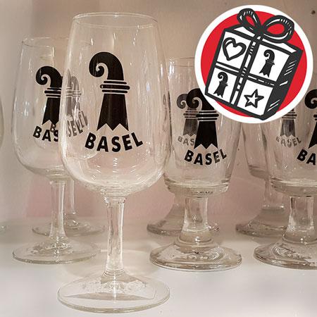 Geschenke Ideen, Geschenke Tipps, Basel, Geschenke Basel, Weissweinglas, Souvenir, Basel Souvenir, Weinglas, Glas, Wunder-Laden