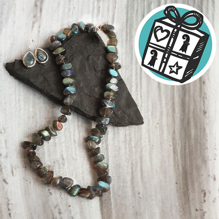 Gift Ideas, Gift tips, Gifts Basel, Basel, necklace, Earrings, labradorite, Edelstai Lädeli